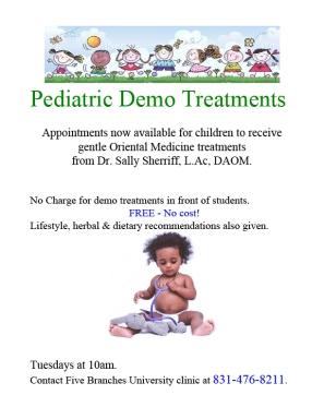 pediatric demo flyer